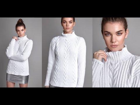 Связать Белый Пуловер Спицами - модели - 2019 / Knit White Pullover Knitting