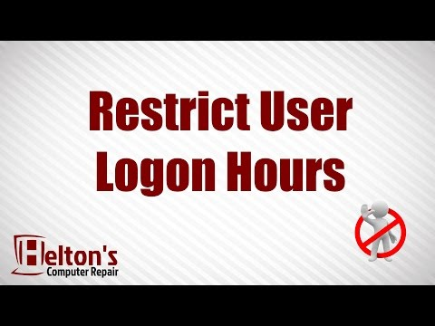 How to Restrict User Logon Hours - XP / Vista / 7