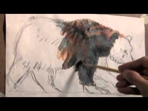 How To Paint Fur Grizzly Bear Demonstration Tutorial