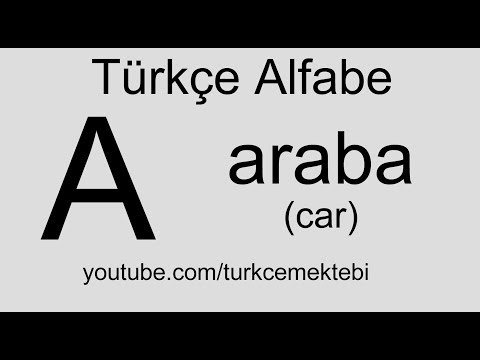 Turkish Lesons Alphabet Pronunciation HD Video / Türkçe Dersleri Sesli Alfabe HD Video