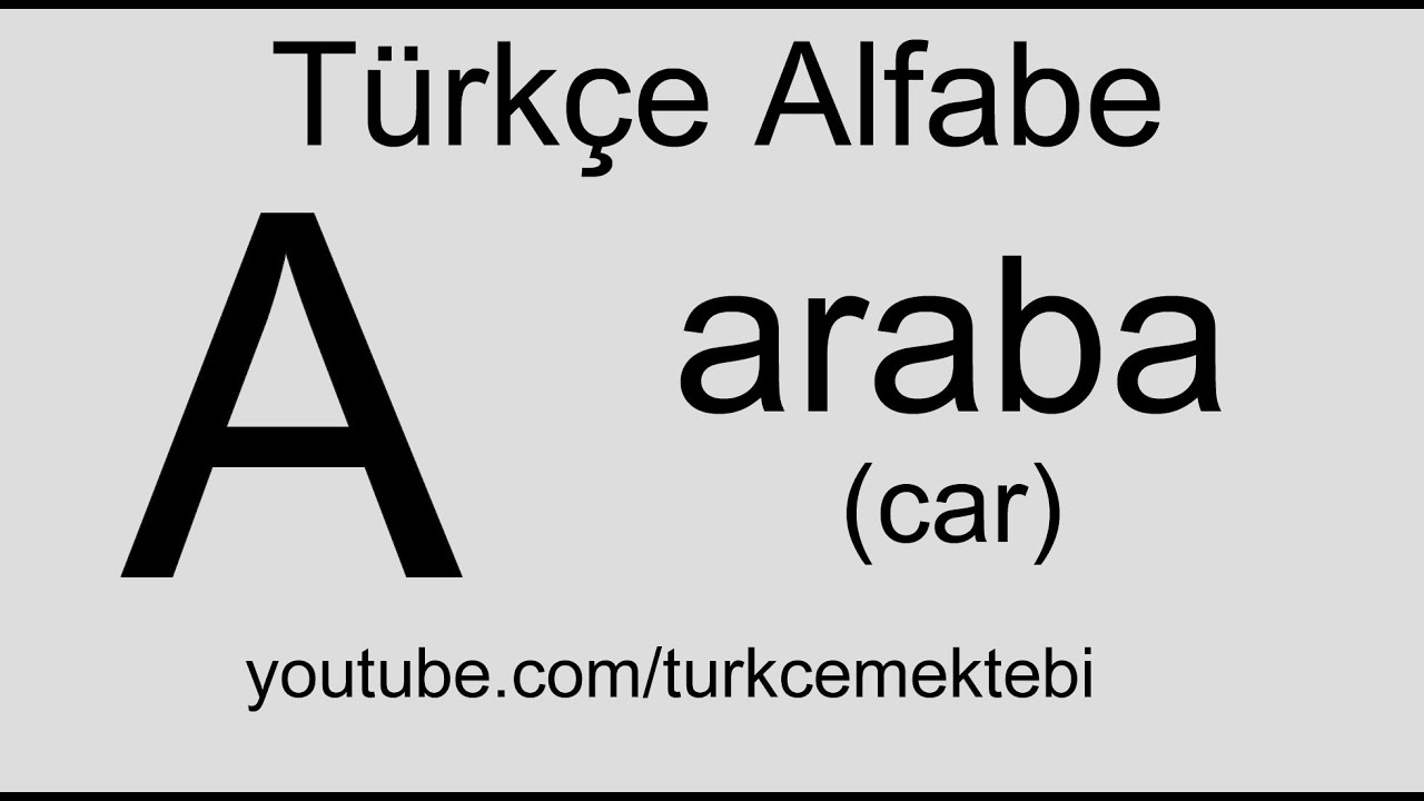 Turkish language, alphabets and pronunciation