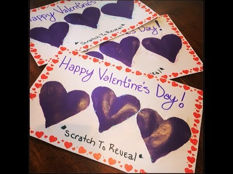 DIY Valentines Day Scratch Cards – Scratch off Valentine Card