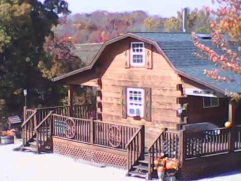 Log Cabins Fall Colors Deer Tracks Harpers Ferry Iowa  YouTube