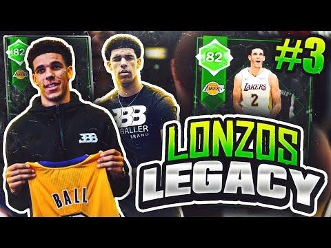 LONZOS LEGACY #3 - SO MANY PACKS! NBA 2K18 MYTEAM!!