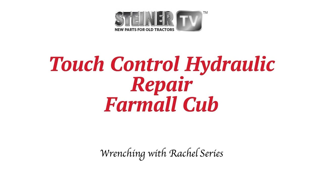 medium resolution of touch control hydraulics on a farmall cub steiner tractor parts