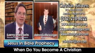 JESUS IN BIBLE PROPHECY: WHEN DO YOU BECOME A CHRISTIAN & DO YOU HAVE TO SPEAK IN TONGUES?