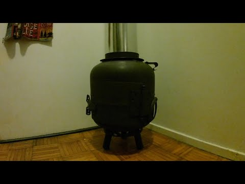Propane tank stove no welding easy way VIDEO