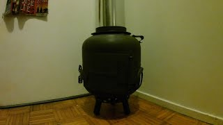 Propane tank stove  with no welding easy way VIDEO
