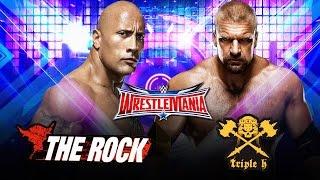 WWE WrestkeMania 32 2016 - The Rock Vs Triple H (WWE 2K16 Dream Match) HD