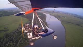 Красивый полёт на дельталёте ЖУК - 42