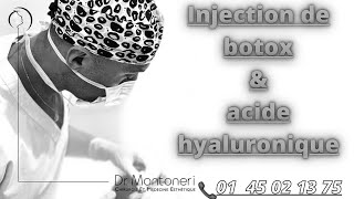 Injection de Botox & acide hyaluronique, contre les rides du visage