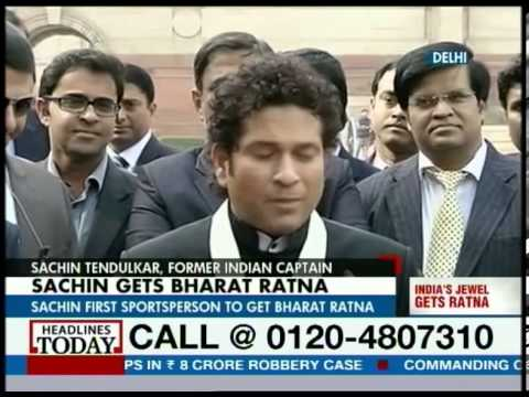 Sachin Tendulkar becomes youngest recipient of 'Bharat Ratna'