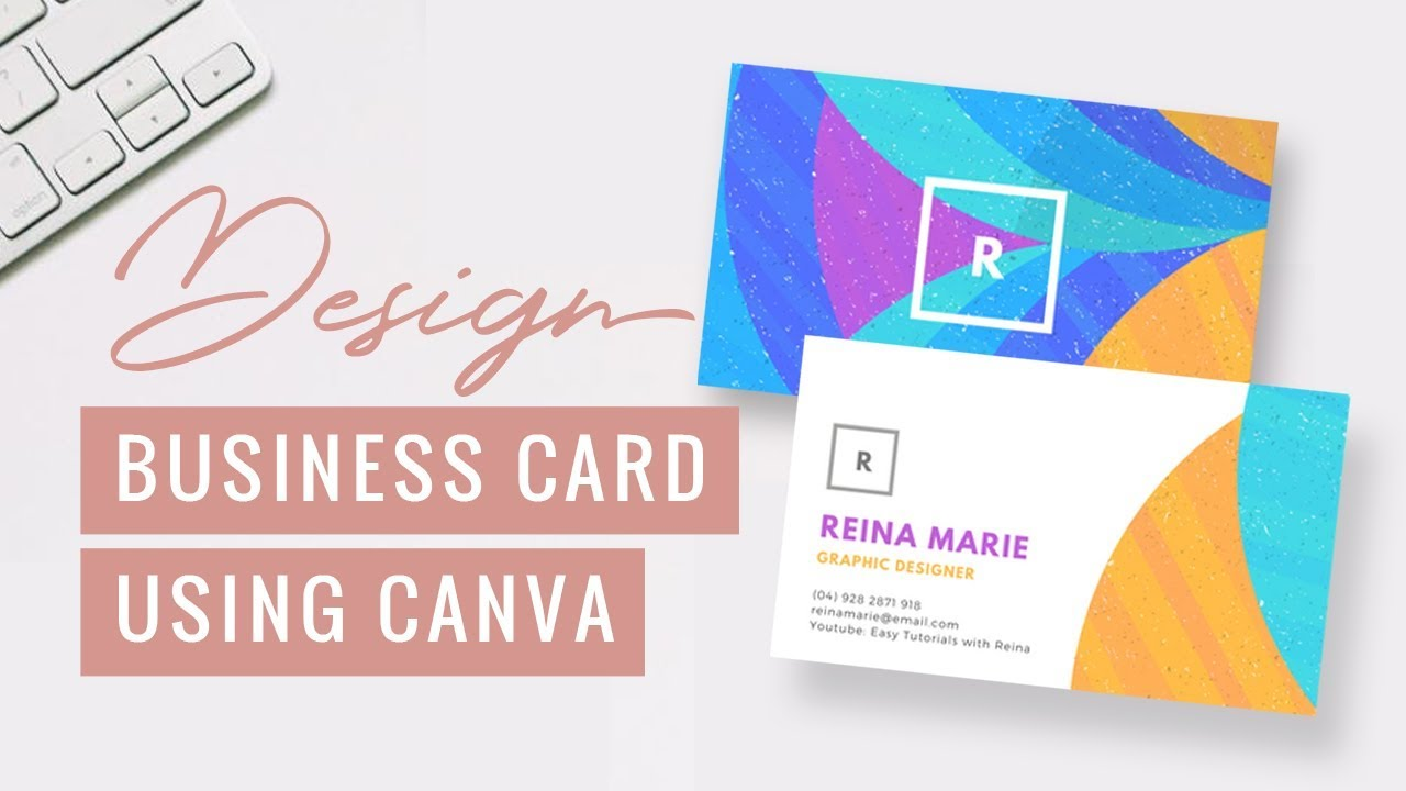 design a business card using canva free download reina gulle - Canva Business Card
