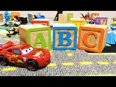 ABC Phonics and ABC song with Lightning McQueens Road Rug adventure