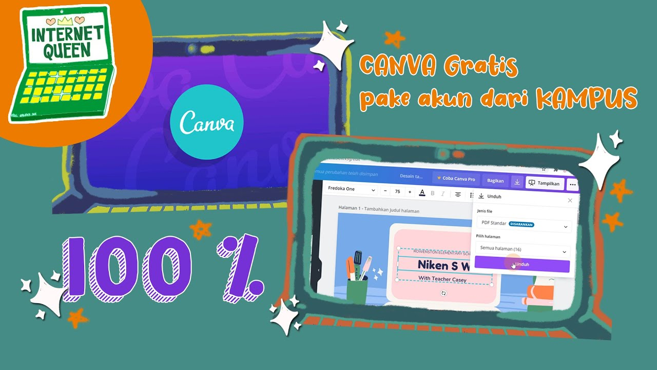 Unduh Fitur Canva Gratis Pake Akun Kampus How To Login Canva Free With All Features Youtube