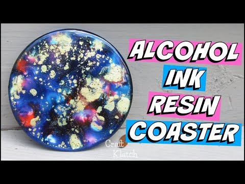 Alcohol Ink Resin Coaster DIY | Another Coaster Friday | Craft Klatch
