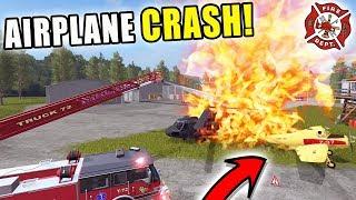 CRASH LANDING   AIRPORT FIRE!   MULTIPLAYER   FARMING SIMULATOR 2017