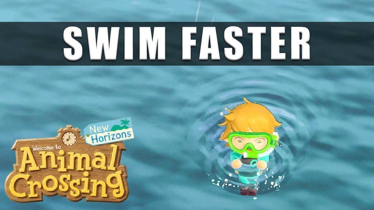 Animal Crossing New Horizons how to swim faster