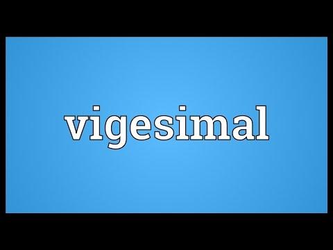 Header of vigesimal