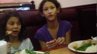 Anna, Julia And Jason Eating At Chinese Buffet 02/20/2012