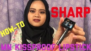 how to sharp mn kissproof lipsticks kissproof test or does it longlasting