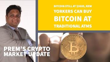 Bitcoin nog steeds op $3600, New Yorkers kunnen met hun pin pas Bitcoins kopen