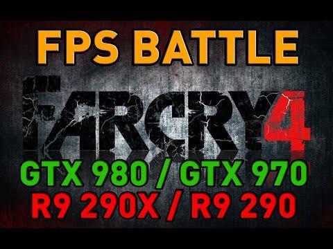 Far Cry 4 - GTX 980/GTX 970/R9 290X/R9 290 - FPS Battle - Nvidia Vs AMD [Benchmark]