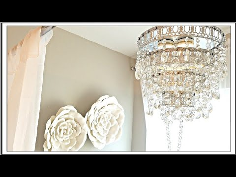 DIY Glam Crystal Chandelier | DIY Room Decor Ideas