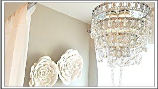 DIY Glam Crystal Chandelier | DIY Room Decor Ideas