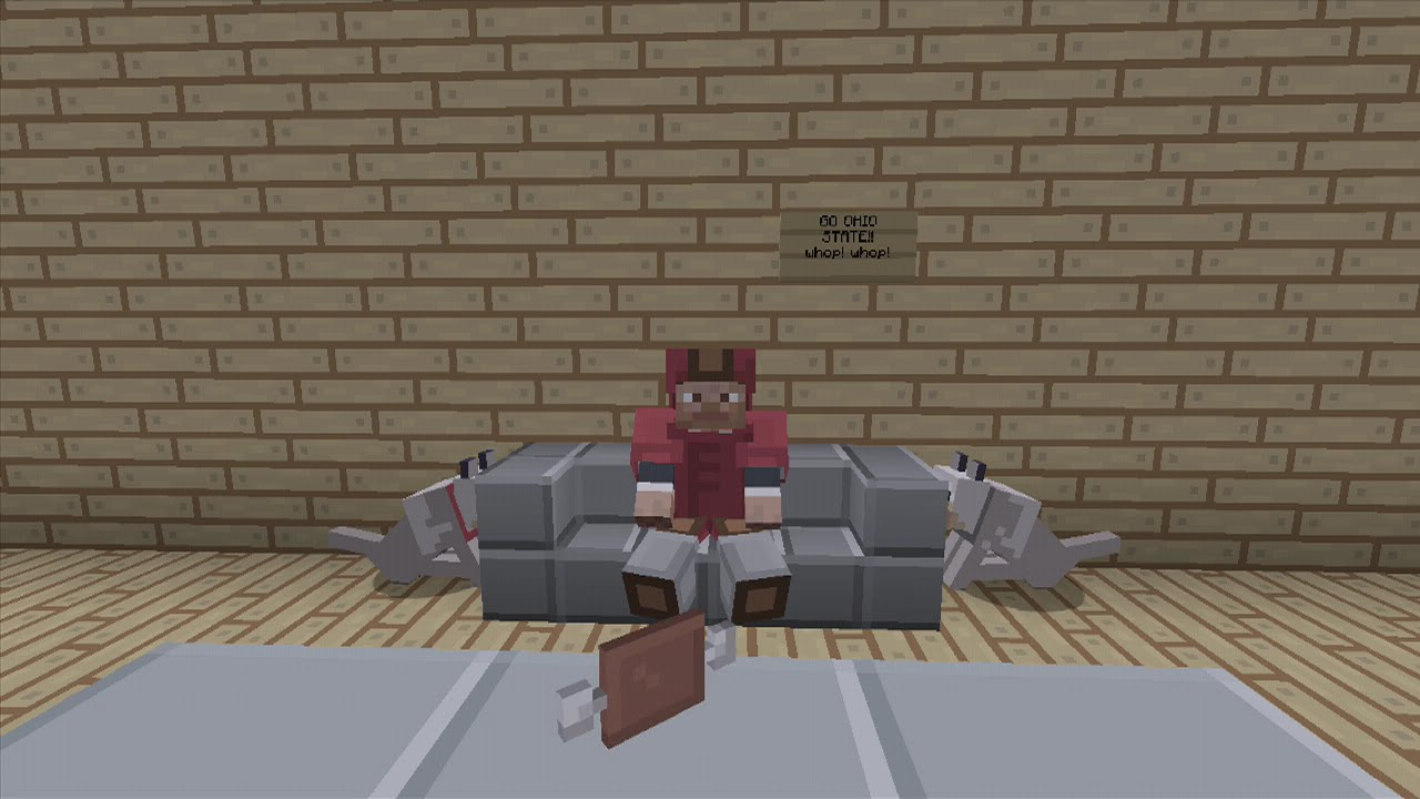 Minecraft Xbox Ps3 Sit Able Couch Chair Tutorial No Mods