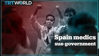 Spain medics take their government to court