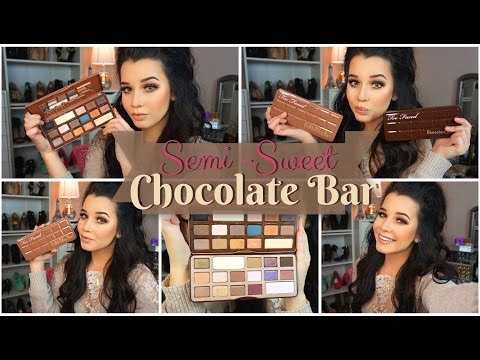 ♡First Impressions Review & Makeup Look♡ | Too Faced Semi-Sweet Chocolate Bar Palette!