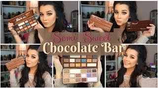 First Impressions Review & Makeup Look | Too Faced Semi-Sweet Chocolate Bar Palette!