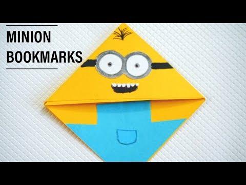 Handmade Bookmarks Making Ideas | Diy Minion Corner Bookmarks | Art and Craft