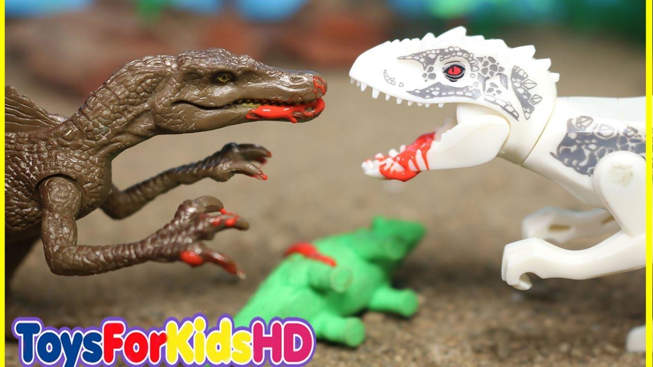 Videos de dinosaurios para ni os indominus rex v s spinosaurus lego dinosaurios dinossauro - Lego dinosaurs spinosaurus ...