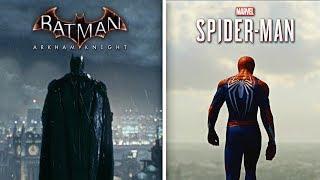 Batman Arkham Knight vs Spider-Man PS4 Comparison