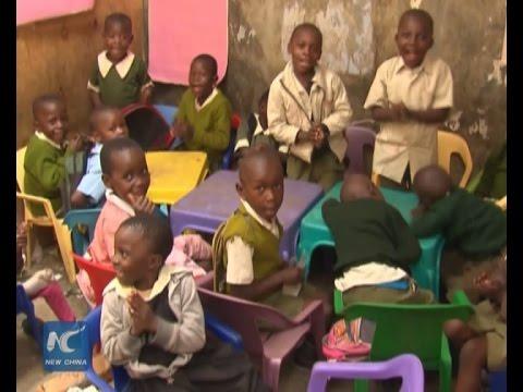 Children in Kenya's Kibera slum hope for better life in 2016