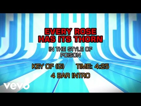 Poison - Every Rose Has Its Thorn (Karaoke)