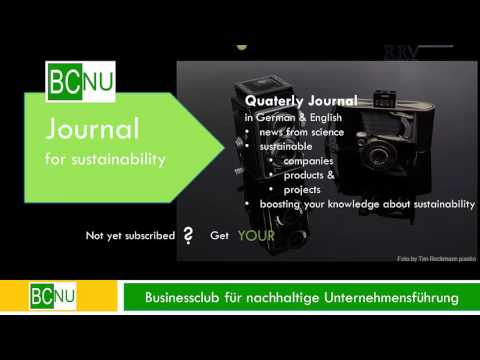 BCNU Journnal for sustainability subscription
