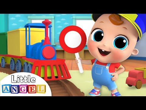 Choo Choo Train | Wheels on the Train Song | Nursery Rhymes by Little Angel