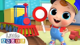Choo Choo Train | Wheels on the Train Song | Nursery Rhymes by Little Angel