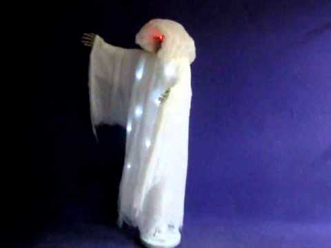 Animated floating ghost decoration youtube for Animated floating ghost decoration