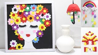 5 Home decoration ideas from felt fabric | felt fabric craft ideas