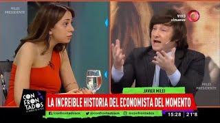 Javier Milei se cruza con la sobrina de Macri- 28/08/18