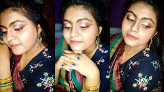 SIMPLE GLOWY LOOK WITH SAREE|DGG