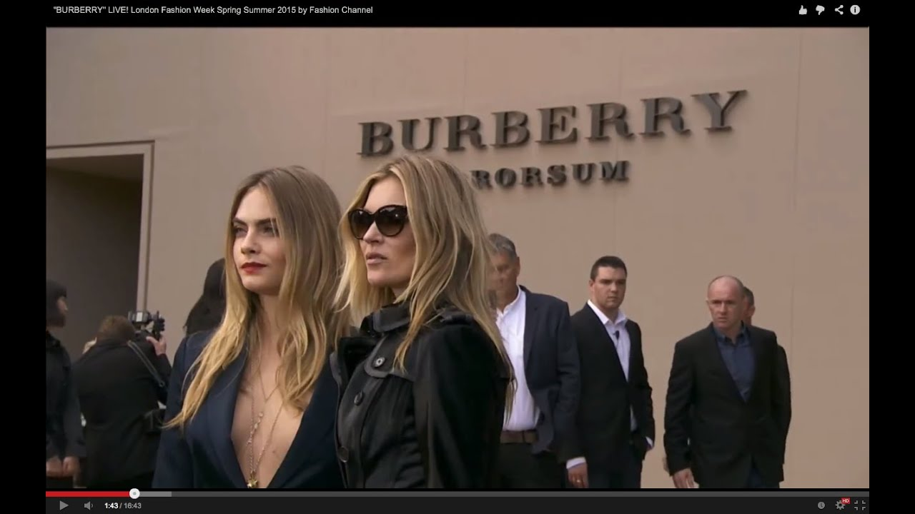 """""""BURBERRY"""" LIVE! London Fashion Week Spring Summer 2015 by Fashion Channel"""
