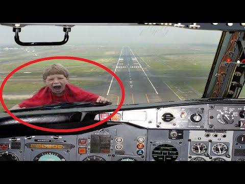 Приколы и инциденты в аэропорту и на борту самолета снятые на камеру