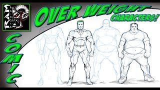 How To Draw Overweight People Comic Book Style - Narrated