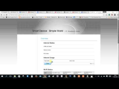 Dialog 4G router set new Password LTE CPE E5172