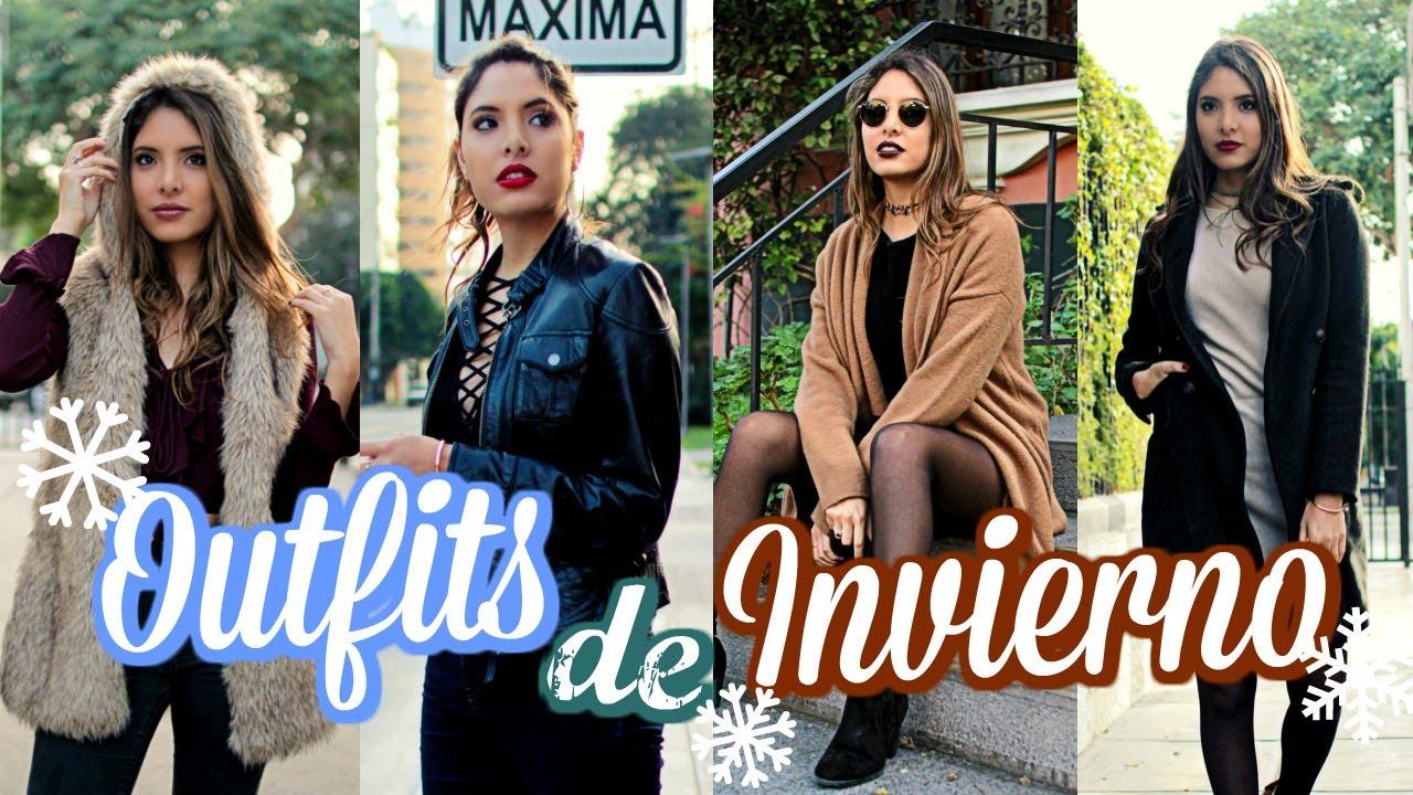 4 OUTFITS DE INVIERNO 2017!!! ❄ | Valeria Basurco